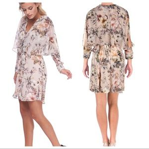 ABS Collection floral long sleeve wrap dress 4